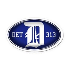 Detroit 313 - Oval Car Magnet