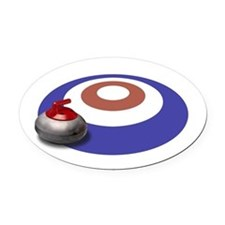 CURLING Oval Car Magnet