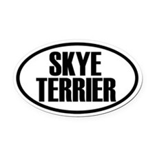 Skye Terrier Oval Car Magnet