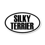 Silky Terrier Oval Car Magnet
