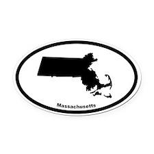 Massachusetts State Outline Oval Car Magnet