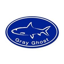 Gray Ghost Oval Car Magnet