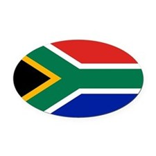 Cute South africa flag Oval Car Magnet