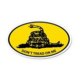 Cute Don''t tread on me Oval Car Magnet