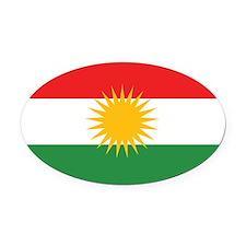 Kurdish Flag Oval Car Magnet