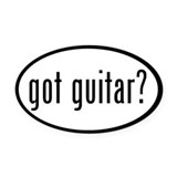 got guitar? Oval Car Magnet