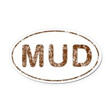 Mud Run Oval Car Magnet