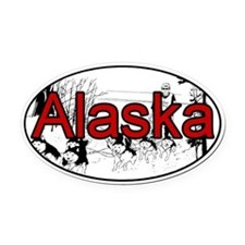 Alaska Oval Car Magnet