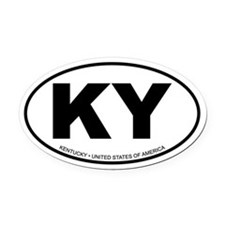 Kentucky Oval Car Magnet