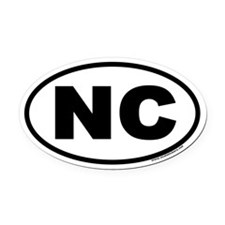 North Carolina NC Euro Oval Car Magnet