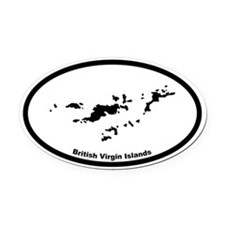 British Virgin Islands Outline Oval Car Magnet