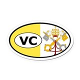 Vatican City Flag Oval Car Magnet