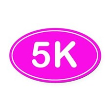 5K *pink* Oval Car Magnet