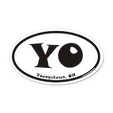 Youngstown Ohio YO Euro Oval Car Magnet
