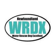 WRDX Oval Car Magnet