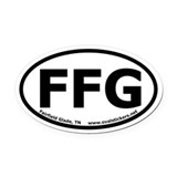 "Fairfield Glade, TN Oval Car Magnet ""FFG"""