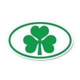 Shamrock Oval Oval Car Magnet