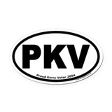 Proud Kerry Voter PKV Oval Car Magnet