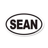 SEAN Euro Oval Car Magnet
