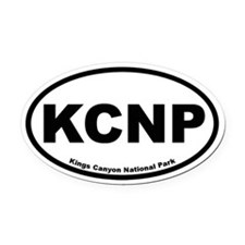 Kings Canyon National Park Oval Car Magnet