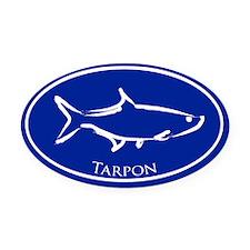 Blue Tarpon Oval Car Magnet