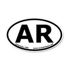 Arkansas, USA Oval Car Bumper Oval Car Magnet