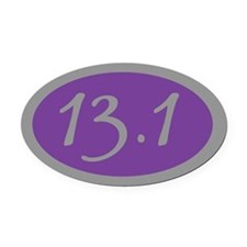 13.1 Miles Oval Car Magnet