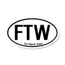 Fort Worth, Texas Oval Car Magnet