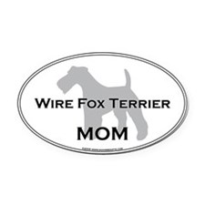 Wire Fox Terrier MOM Oval Car Magnet