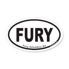 Fury, Columbus, Ga Euro Oval Car Magnet