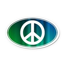 PEACE - Oval Car Magnet