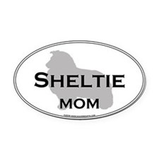 Sheltie MOM Oval Car Magnet
