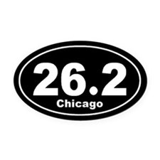 26.2 chicago black Oval Car Magnet