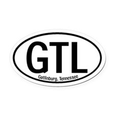 Gatlinburg, Tennessee Oval Car Magnet