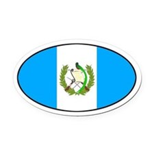 Oval Guatemala Flag Oval Car Magnet