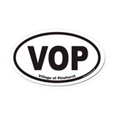 Village of Pinehurst VOP Euro Oval Car Magnet