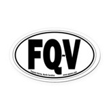 Fuquay-Varina, North Carolina Oval Car Magnet