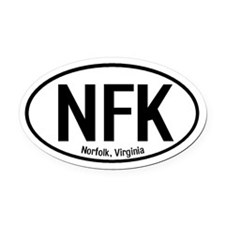 Norfolk, Virginia Oval Car Magnet