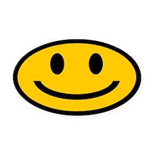 SMILEY Oval Car MagnetS Oval Car Magnet