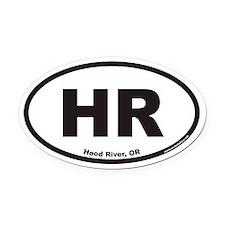 Hood River HR Euro Oval Car Magnet