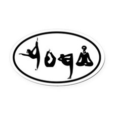YOGA Oval decal Oval Car Magnet