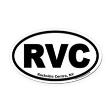 "Rockville Centre, NY ""RVC"" Oval Car Magnet"