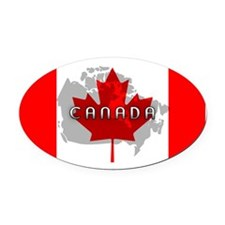 Canada Flag Extra Oval Car Magnet
