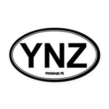 YNZ Oval Car Magnet - White