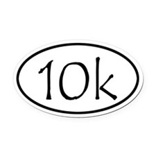 10k Run Oval Car Magnet