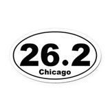 Unique Runner Oval Car Magnet