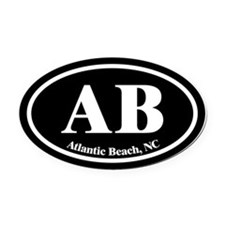 Atlantic Beach AB Euro Oval Oval Car Magnet