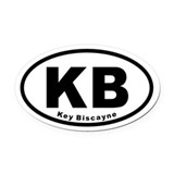 KB Key Biscayne Euro Oval Car Magnet