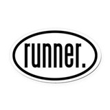 runner. Oval Car Magnet