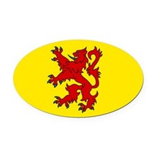 Scottish Oval Car Magnet